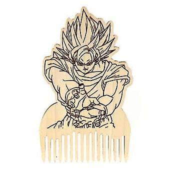 Dragon Ball Z Goku Peigne barbe en bois