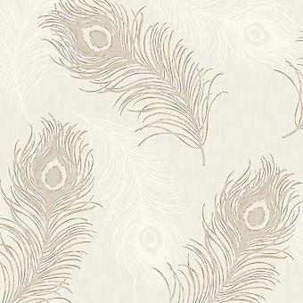 Debona Viola Feathers Wallpaper