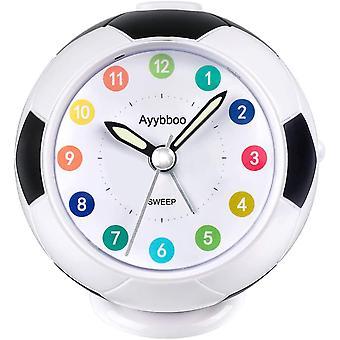 PROKING Alarm Clock for Kids Bedside Alarm Clock Non Ticking Travel Alarm Clock