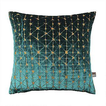 Jasper Geometric Cushion In Teal Gold