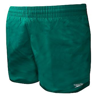 """Speedo Fitted Mens 13"""" Leisure Swimming Shorts Trunks Green 8 10609C589"""