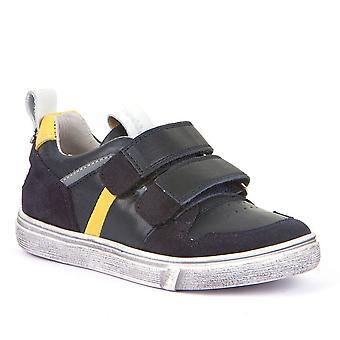 FRODDO Leather Double Velcro Shoe Navy Blue