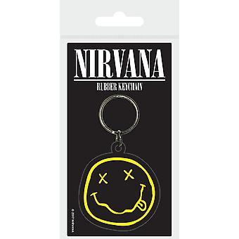 Nirvana Smiley Rubber Keyring