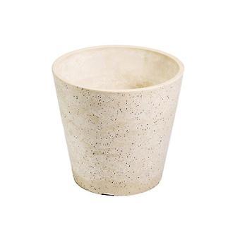 20Cm Stone White Cream Pot