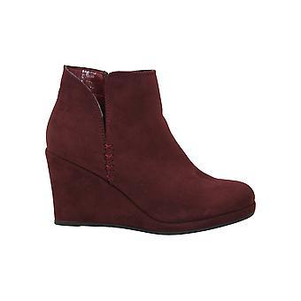 Rampage Women's Jesy Almond Toe Ankle Fashion Boots FOC, Maroon, Size 8.0