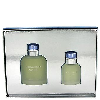 Light Blue Gift Set By Dolce & Gabbana 4.2 oz Eau De Toilette Spray + 1.3 oz Eau De Toilette Spray