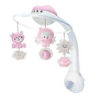 Infantino 3 i 1 projektor musikaliska mobil rosa
