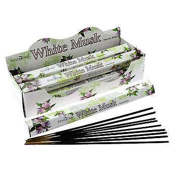Stamford hex incense sticks - white musk 6 supplied