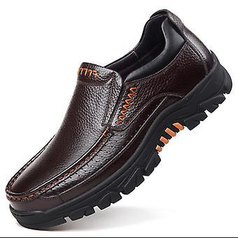 Echtes Leder Casual Schuhe, Männer Loafers