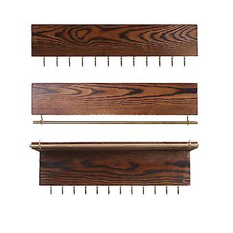 Rustic Jewelry Organizers,Necklace Holder,Wall Mounted Storage Rack,Displayer N