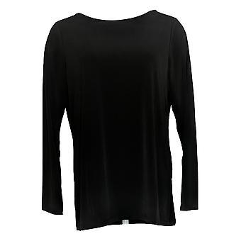 Susan Graver Women's Regular Liquid Knit Tunic Black A387766