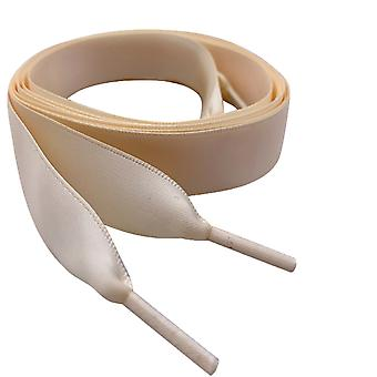 Cream Satin Ribbon Shoelaces Laces