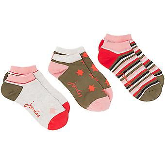 Joules Womens Rilla 3 Pack Super Soft Breathable Ankle Socks