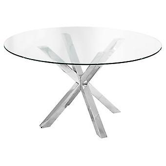 Crayson Table Large Round Glass Stylish Table