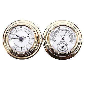 New-thermometer hygrometer barometer watches clock 2 whole set weather station meter