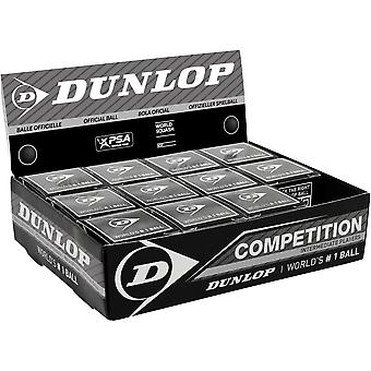 Dunlop Competition Squash Balls (Pack of 12)