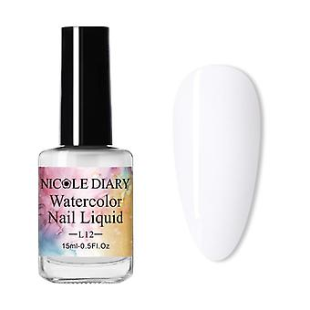 Watercolor Nail Polish, Blooming Nail Gel, Decoration Salon Bubble, Varnish