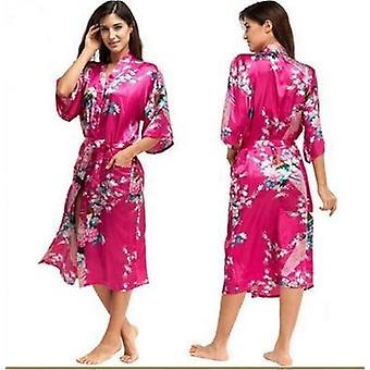 Robe Sleepwear Silk Pijama