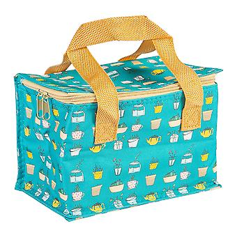 Borsa da pranzo isolata fantasia foil foderato picnic sandwich box Piccoli botanici