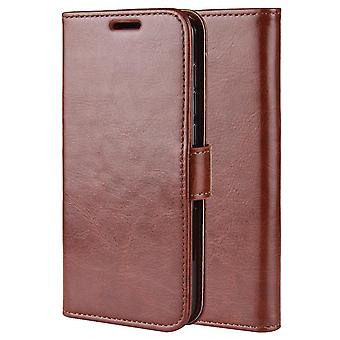 Magnetic stylish leather case for Honor 10X Lite - Brown