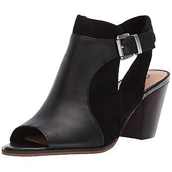 Bella Vita Women's Kellan Block Heel Sandal Schoen, Zwart Leer/Suède leer, 8,5 2W US