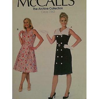 McCalls ompelu kuvio 7087 Naiset Misses Mekko Vyö Koko 6-14 Leikkaamaton 1963