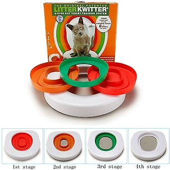 Cat Best Toilet Training Plastic Kit Litter Box Puppy Cat Litter Mat Cat Toilet Trainer Toilet Pet Cleaning Cat Training Product