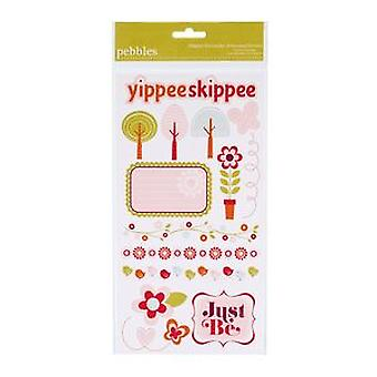 American Crafts - Happy Go Lucky -Embossed Stickers