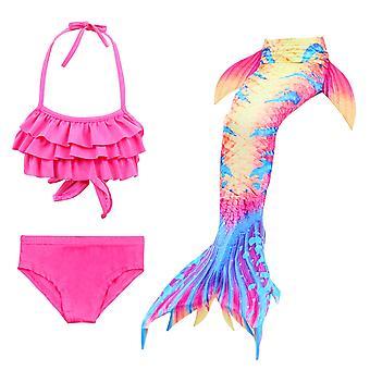 حورية البحر فتاة ملابس السباحة ثلاث قطع بيكيني الذيل للسباحة tscs-16