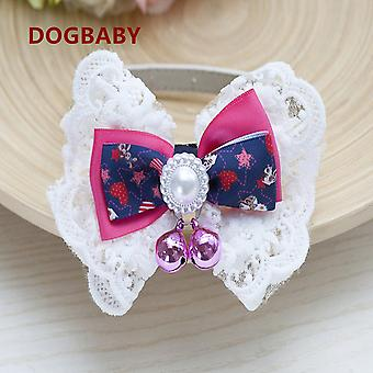 Pet collar bells bow tie cute pet supplies