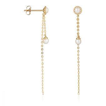 Ohrringe gelbgold 375/1000 und Perlen