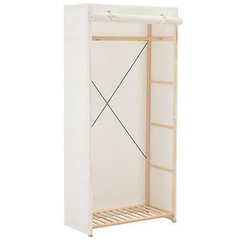 vidaXL Wardrobe White 79 x 40 x 170 cm Fabric