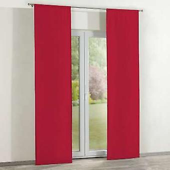 Oppervlaktegordijnen 2 st., rood, 60 × 260 cm, Katoen Panama, 702-04