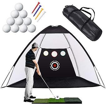 FengChun Golf-bungsnetz Golf-Schlagnetze mit Chipping-Zieltaschen, Golf-Trainingshilfen-bungsnetze -