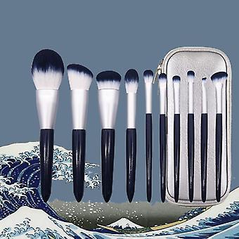 10 Stk Make-up Bürsten Set Pulver Bürste Pulver Fundament Pinsel Lid Schatten Pinsel