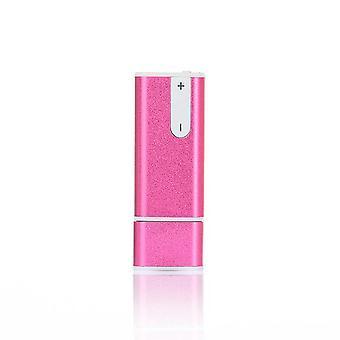 Mini 3 in 1 Voice Audio 8G USB spy pen(Pink)