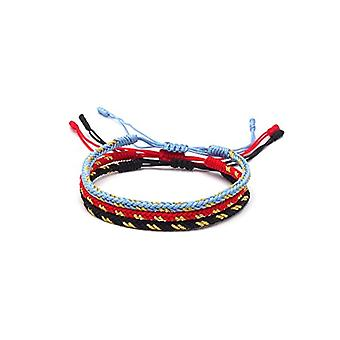 Benava, Tibetan lucky bracelet Bracelet of friendship intertwined and metal base, color: Multicolored, cod. Ref. 4744999041052