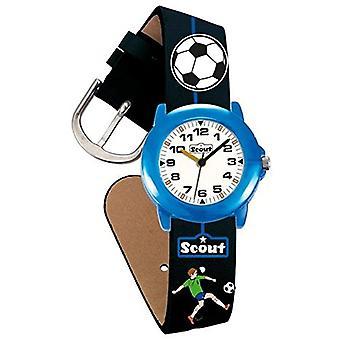 Scout 280305000 - Children's wristwatch, quartz, analog, leather-like strap