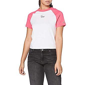 Tommy Jeans Tjw Tommy Raglan Camiseta, Blanco, M Mujer