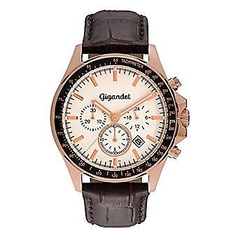 Gigandet G3-006 Watch, leather strap, color: brown