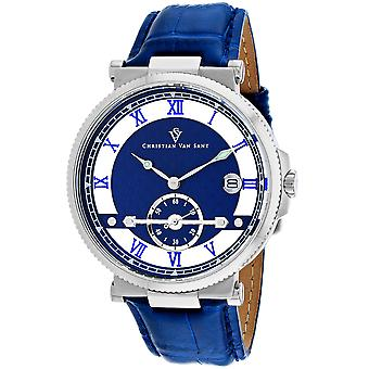 Christian Van Sant Men's Clepsydra Blue Dial Watch - CV1700
