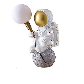 3D printing bedroom astronaut moon exploration desk lamp cartoon boy room lighting 220V sitting