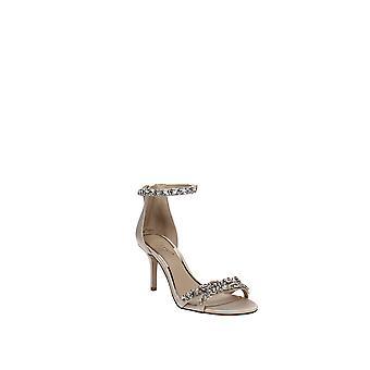 Jewel by Badgley Mischka | Caroline Embellished Ankle-Strap Evening Sandals