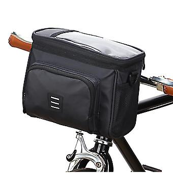 Foldable bicycle front bag, waterproof and wear-resistant sundries storage bag az21002