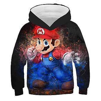 3d Print, Super Mario Cartoon Hooded Sweatshirt voor Set-1