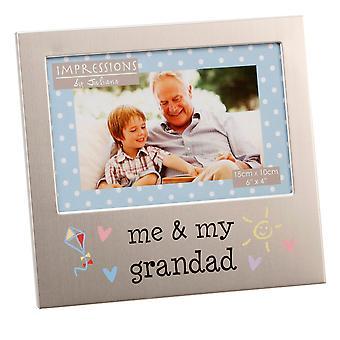 "6"" x 4"" - Aluminium Me & My Grandad Photo Frame"