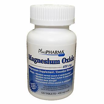 Plus Pharma Magnesium Oxide, 400 mg, 120 Tabs
