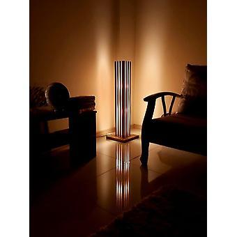Hand Made Wooden Epoxy Resin Floor Lamp Naturel Wood Amber Led Lamp Modern