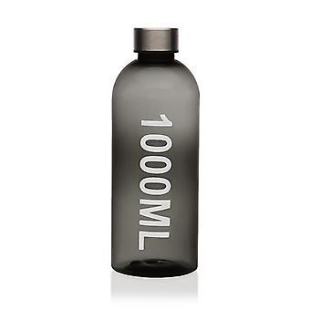 Pullo Harmaa Teräs polystyreeni (1000 ml)
