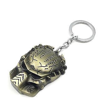 Film Avp Alien Vs. Predator Mask Keychain Key Ring Alloy Pendant
